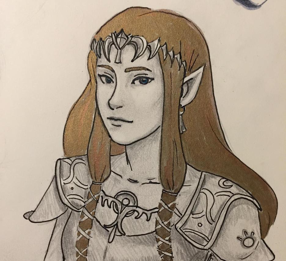 Inktober 5 - Zelda by dares2dream