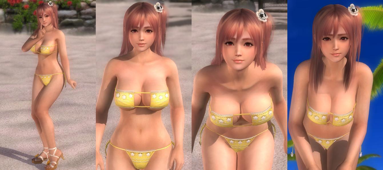 the sensual Honoka in a tiny swimsuit :3 by desmondlogan