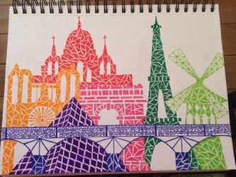 Paris Skyline by Evaria666