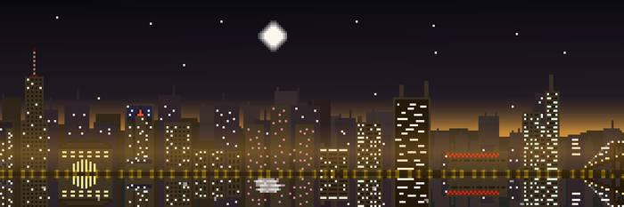 New York at Night - Hotline Miami by XLightningStormL