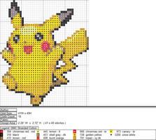 Pikachu XStitch Pattern 1 by niakane