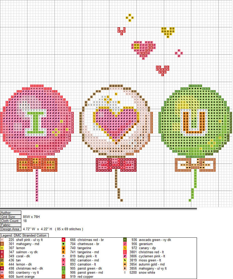 ILY Balloons XStitch Pattern by aeiouna
