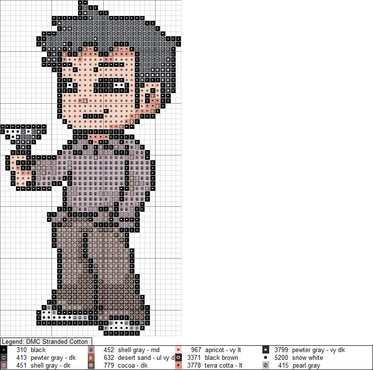 Wallace XStitch Pattern by niakane