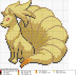 Ninetails XStitch Pattern