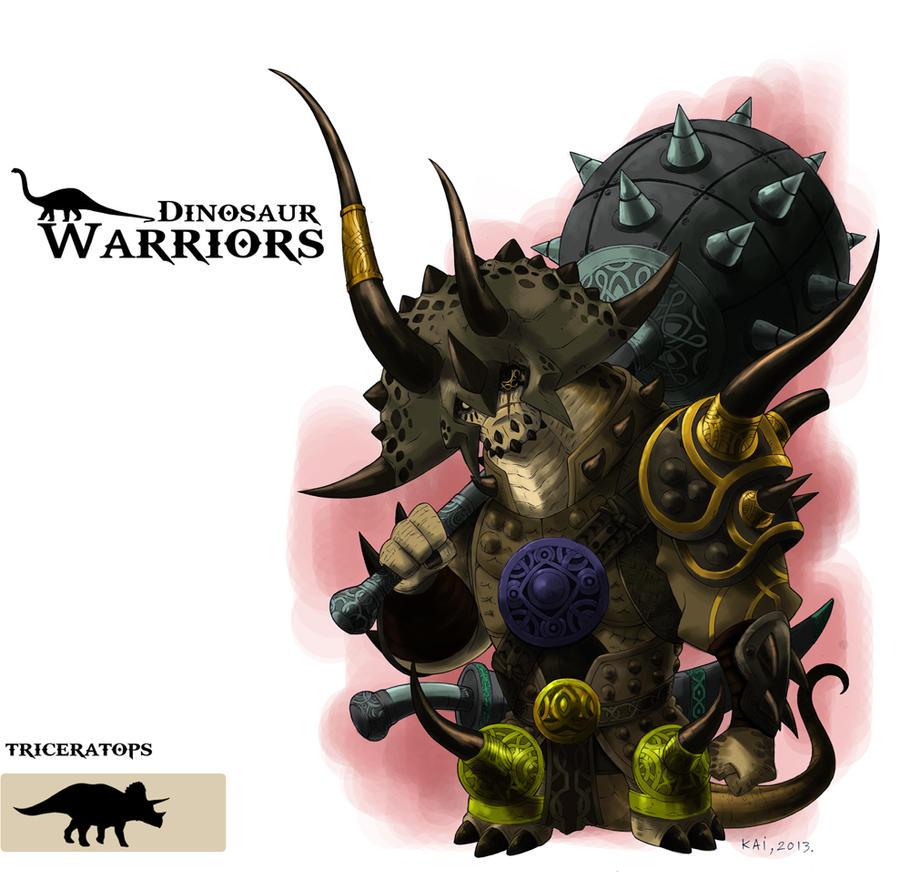 Dinosaur-Warrior-TRICERATOPS by kaianimator on DeviantArt