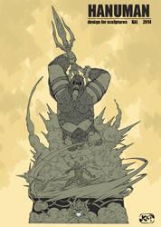 Hanuman Pose by kaianimator