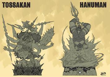 TODSAKAN  HANUMAN   design for sculptures by kaianimator
