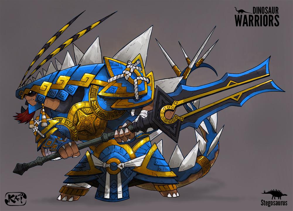 Dinosaur-Warriors- Stegosaurus Color Version by ...