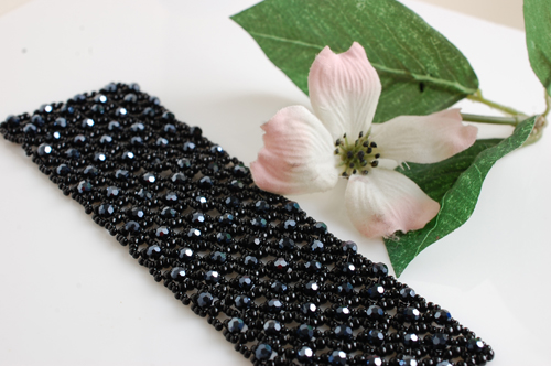 Black seed bead braclet by stepbrown