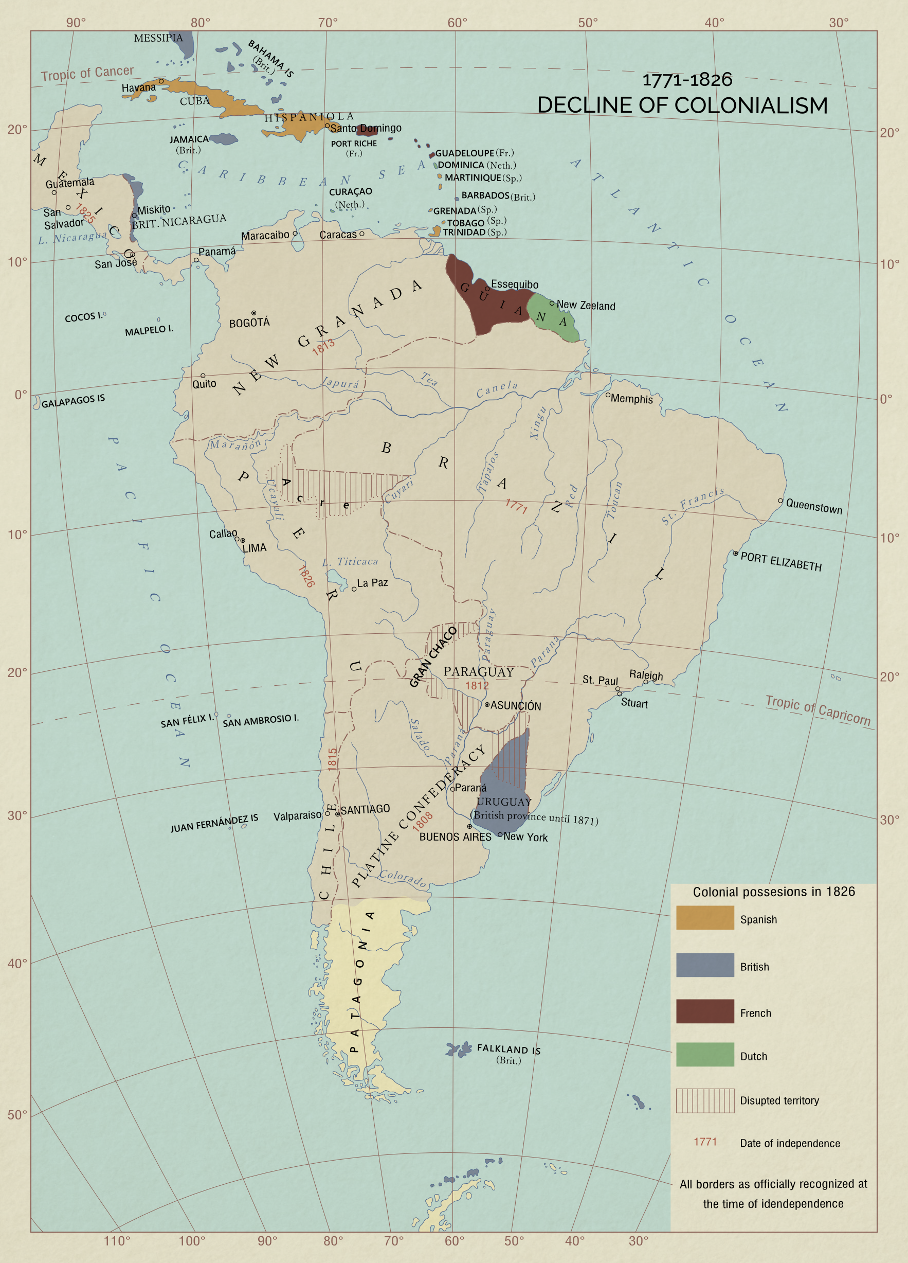 WHWEJ Decline Of Colonialism In South America By ToixStory On - South america map gran chaco