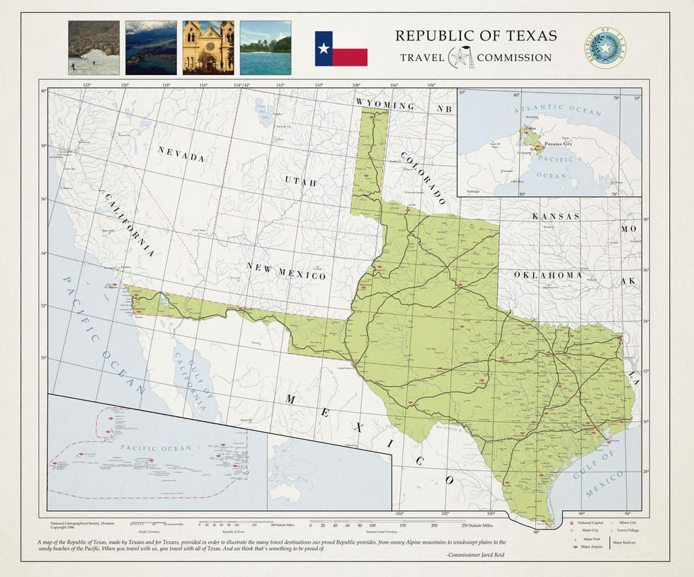 Travel the Republic of Texas Commission by ToixStory on DeviantArt – Texas Travel Map