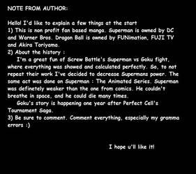 DRAGON BALL S (AKA SUPERMAN AND GOKU ) PAGE 0