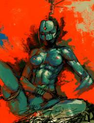 blue skin woman by cellar-fcp
