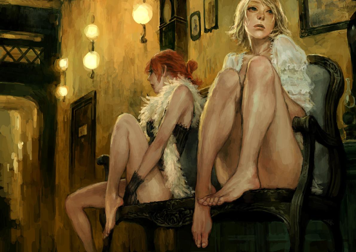 Обнаженные девушки торгуют своими прекрасными телами  126657