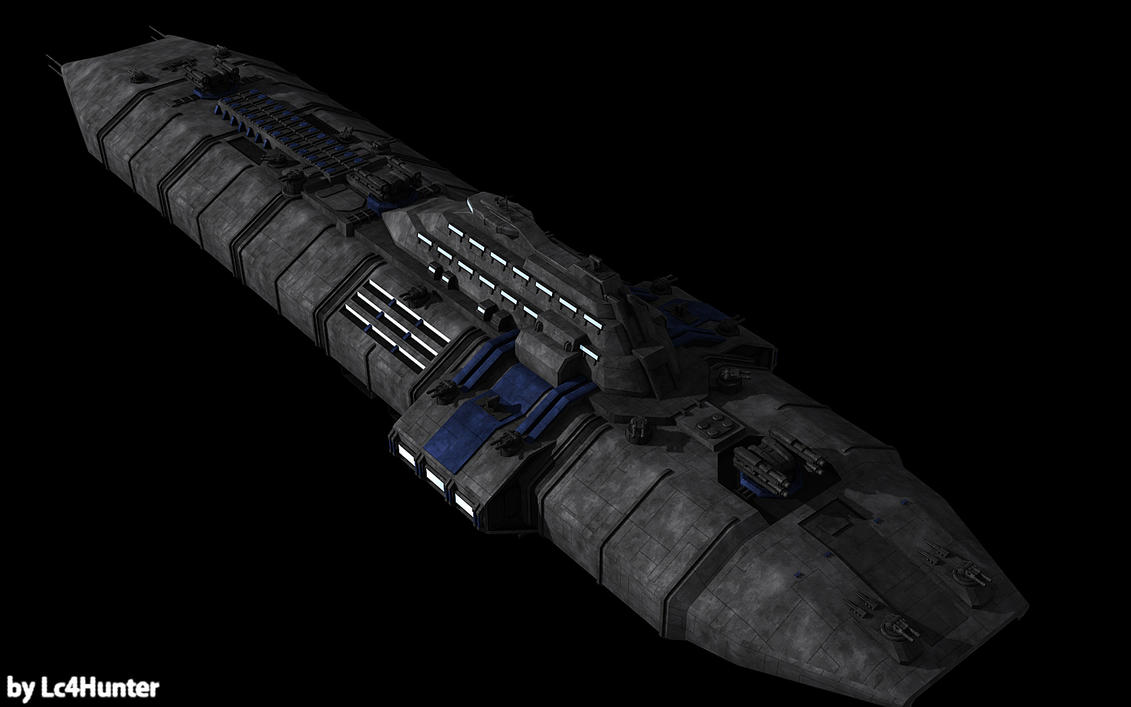 Medium Cruiser Dresden WIP 09 by Lc4Hunter