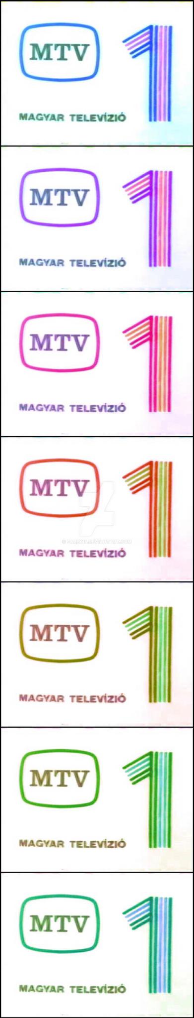 MTV 1 logo negative color variation #01 by farek18