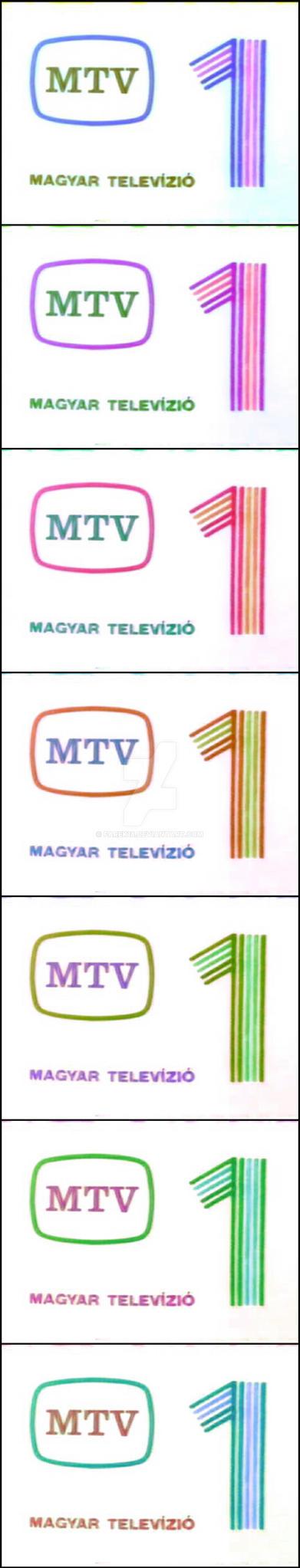 MTV 1 logo negative color variation #02 by farek18