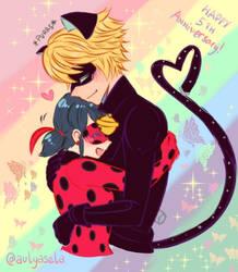 Lemon ladybug noir chat x Adrien Agreste