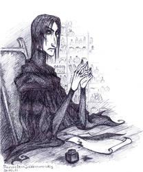Severus Snape by SenselessJabberwocky