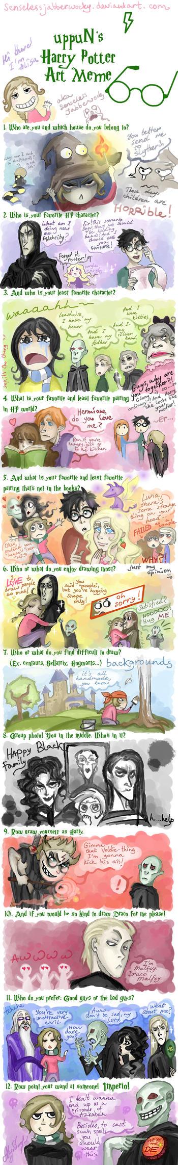 uppuN's HP Art meme by SenselessJabberwocky
