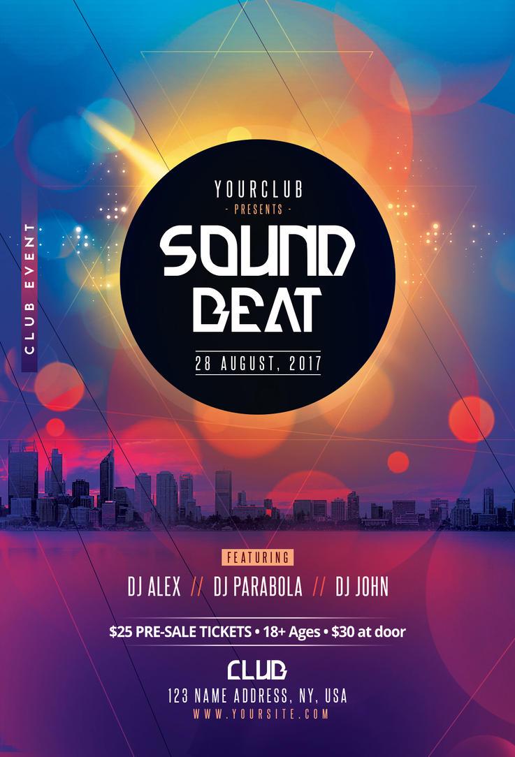 Sound Beat - DJ Party PSD Flyer Template by fidan-selmani on DeviantArt