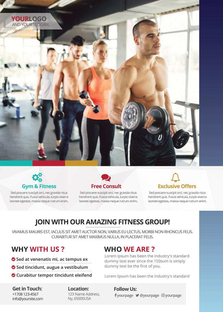 Fitness And Gym Psd Flyer Template By Fidan Selmani On Deviantart
