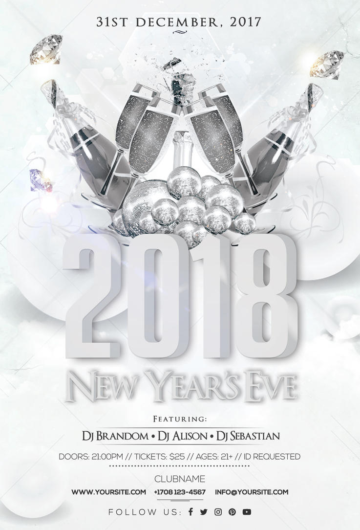 2018 New Years Eve - Flyer Template by fidan-selmani on DeviantArt