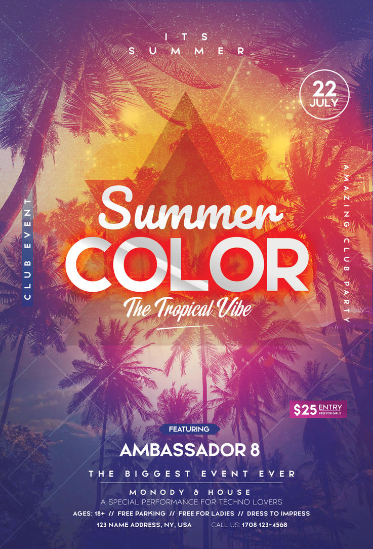Summer Color - Invitation and Flyer PSD Template by fidan-selmani on ...