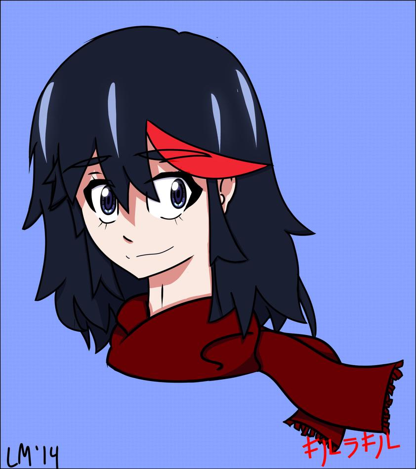 Ryuko with Scarf by SSB09