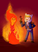 Finn/Flame Princess by sir-grimmington