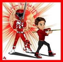 Jason The Red Ranger by DK-DarkKitty