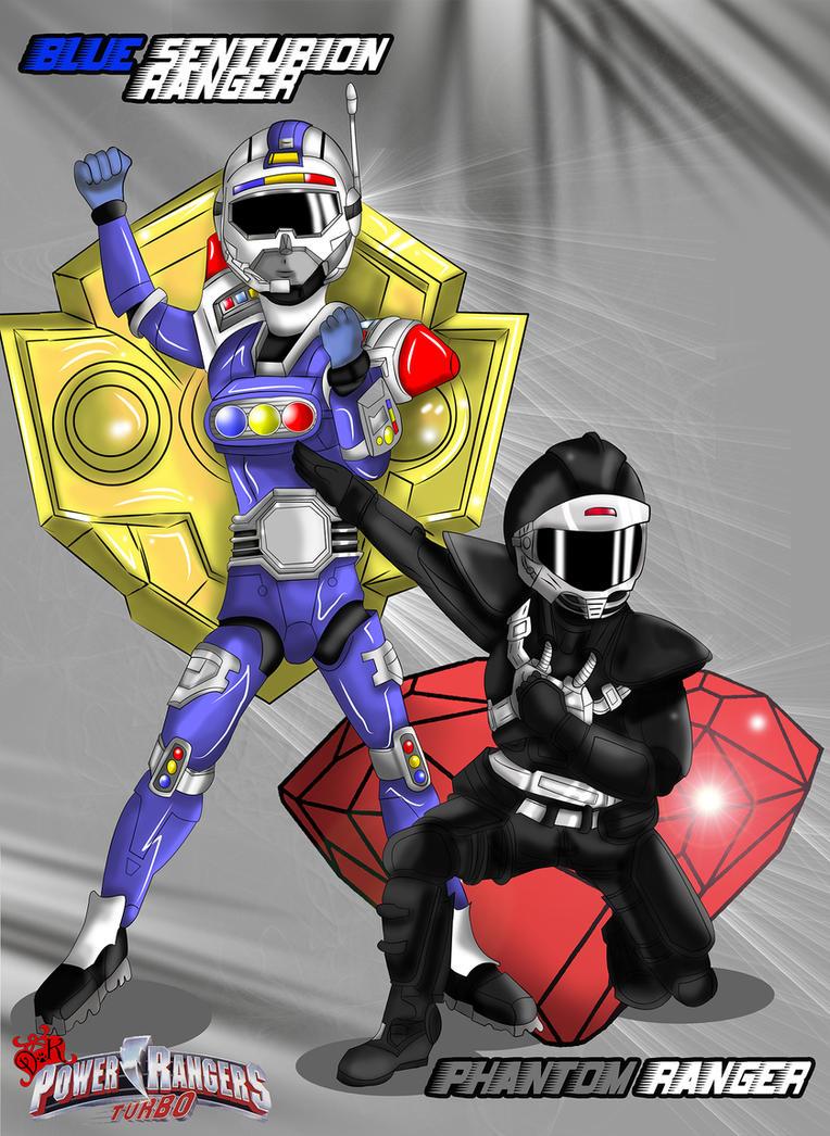 Blue Senturion Ranger and Phantom Ranger by DK-DarkKitty
