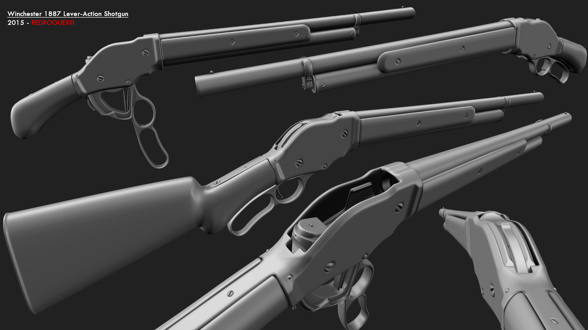 Winchester Model 1887 Lever-Action Shotgun by redroguexiii