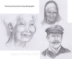 Pencil Portrait Practice from Photograph by Murklins
