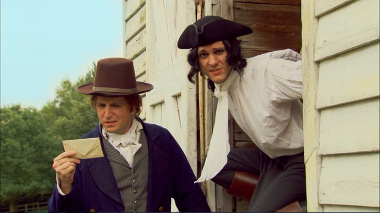 Mathew Baynton as Dick Turpin with Ben Willbond
