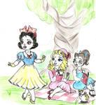 Little 50s Princess Gals by harishasart