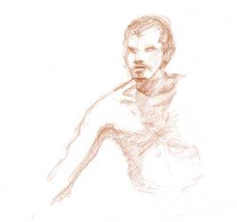 Life drawing - man - leaning forward