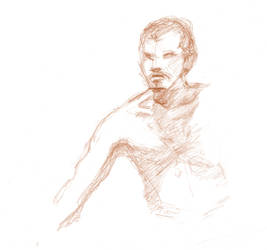 Life drawing - man - leaning forward by marypmadigan