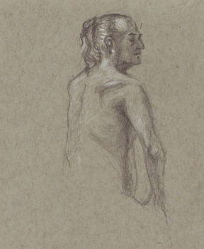 Life drawing - Man, back view