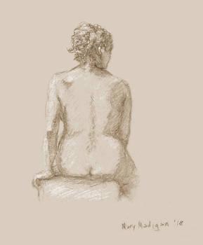 Art class sketch - Woman facing away