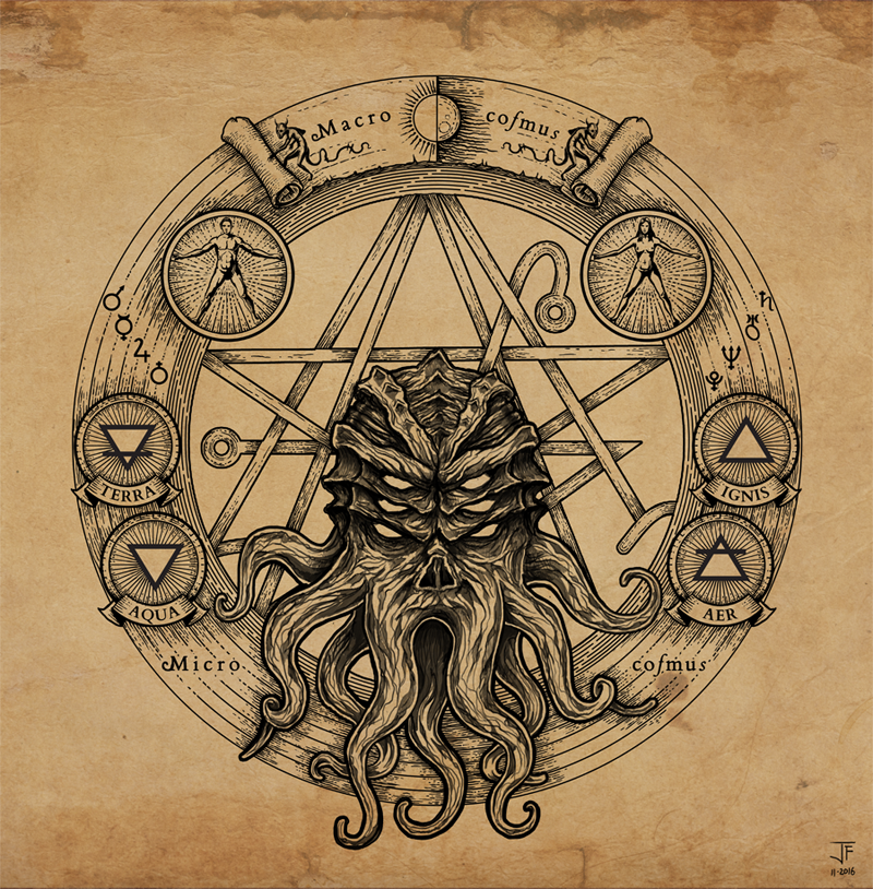 Cthulhu Pentagram by Jack-Burton25