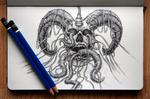 Wired Demon Head - Sketch