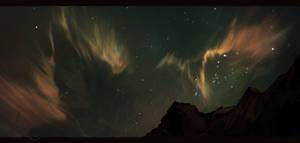 Emerald sky by Amassori
