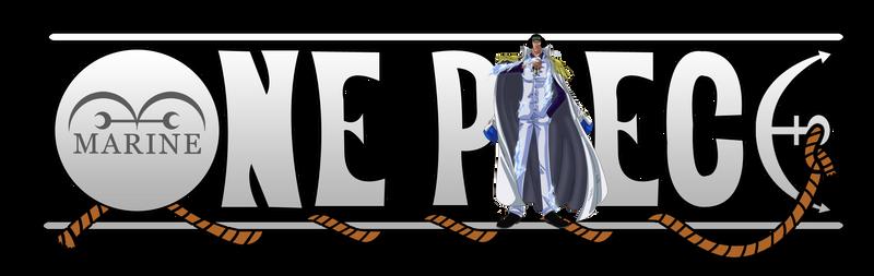 One Piece Logo - Admiral Aokiji (Kuzan)