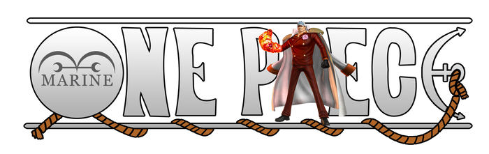 One Piece Logo - Admiral Akainu (Sakazuki)