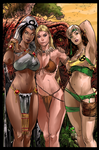 Storm  Shanna and Rogue in  Savage Land