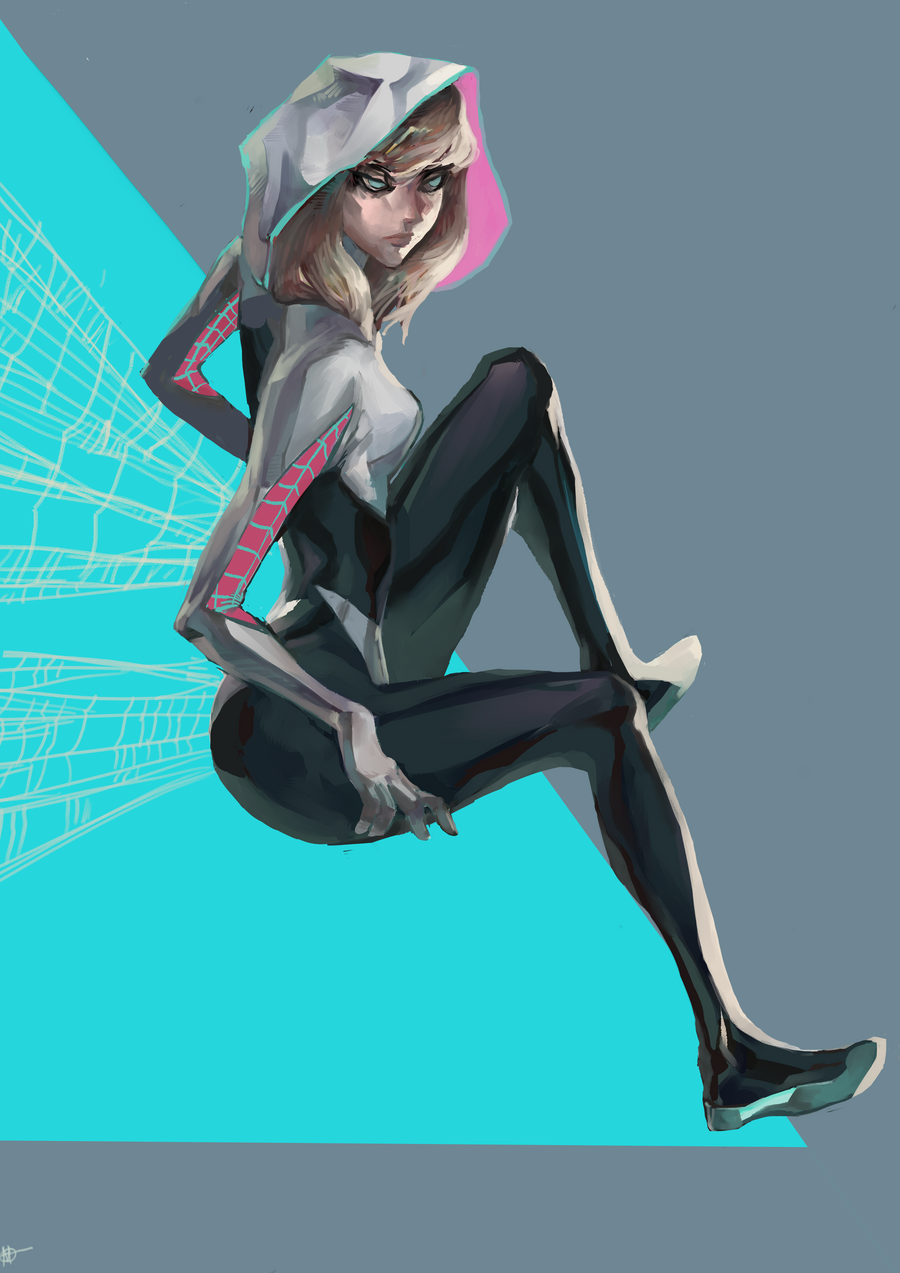 Spider-Gwen by HaphazardMachine