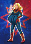 Captain Marvel (Twins) by Olympic-Dames