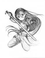 Kirito (Sword Art Online) Sketch by megumichan96