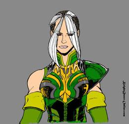 Huntress Diana in battle armor by stjude90